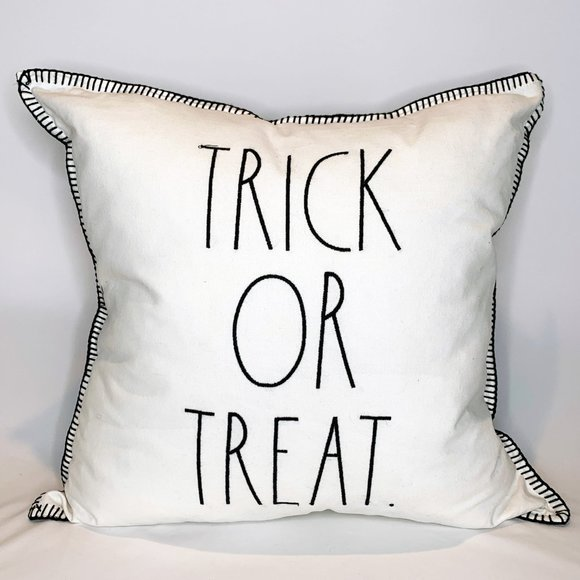 "Rae Dunn Other - Rae Dunn Halloween ""TRICK OR TREAT"" Feather Pillow"